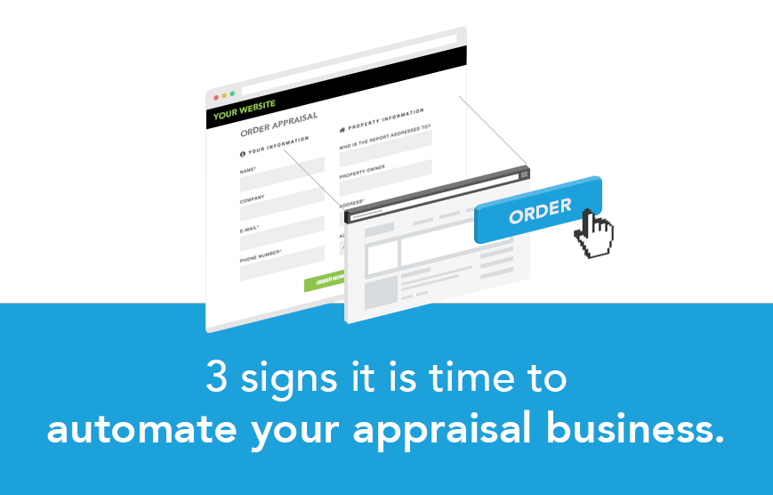 Automate three 3 signs appraisal business auto order easy anow software